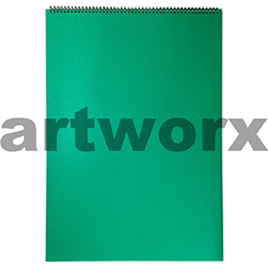 135gsm A2 Landscape Green Lime Visual Diary