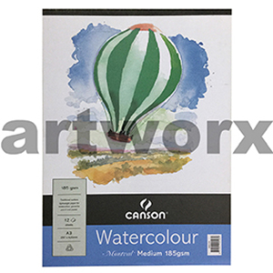 185gsm A4 12 Sheet Cold Press Canson Montval Cotton Watercolour Drawing Pad