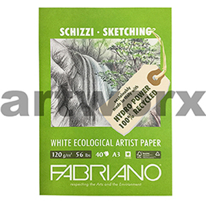 120gsm A3 40 Sheet 100% Recycled White Sketching Pad