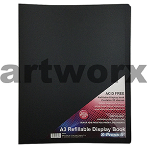 A3 Refillable Art Portfolio 20 Sleeves