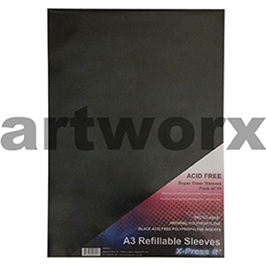 10pc A3 Refillable Plastic Sleeves for Portfolio
