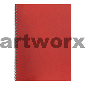 135gsm A3 Portrait Red Visual Diary