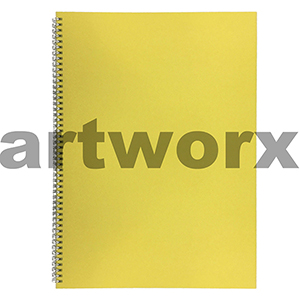 135gsm A3 Portrait Lemon Yellow Visual Diary