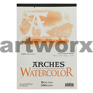 300gsm A4 12 Sheet Rough Arches Pad