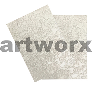 Pearlescent Gardenia Pearl A4 Embossed Paper