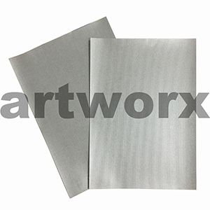 Fine Line Silver A4 Embossed Paper