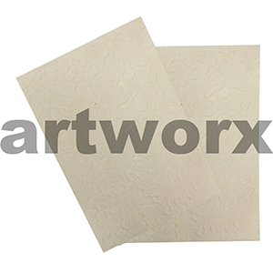 Cream Floral Antique A4 Embossed Paper