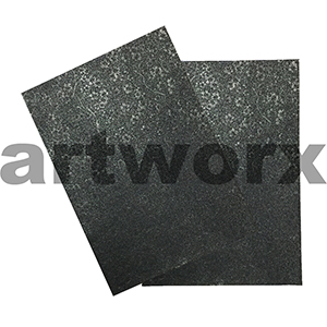 Black Sakura Foil Embossed on Black A4 Paper