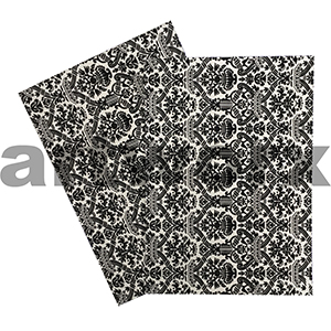 Couture Majestic Black A4 Flocked Paper
