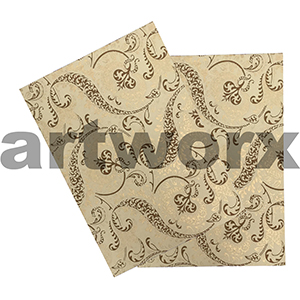 Pomegranate Beige Ivory & Chocolate with Gold A4 Matte Printed Paper