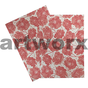 Ruby Red Poppy A4 Matte Printed Paper
