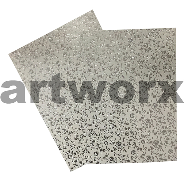 Buy Silver Aster Foil Embossed On Quartz A4 Paper Art And Craft