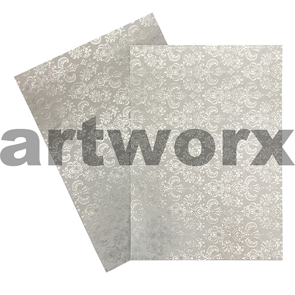 Buy Crest Silver Foil Embossed On Quartz A4 Paper Art And Craft