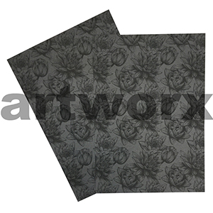 Charcoal Water Lily A4 Printed Paper Metallic