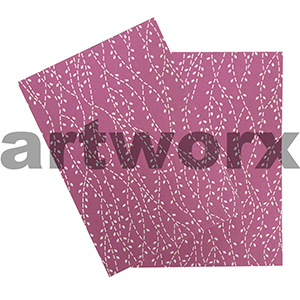 Pink Linen with White Dotted Vine A4 Embossed Paper