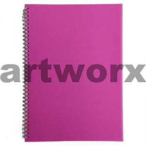 135gsm A4 Portrait Pink (Strawberry) Visual Diary