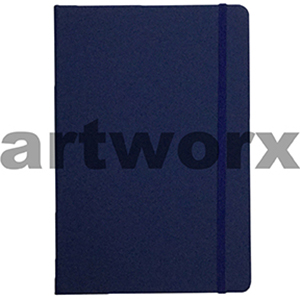 70gsm A6 96 Sheets Lined Dark Blue Journal