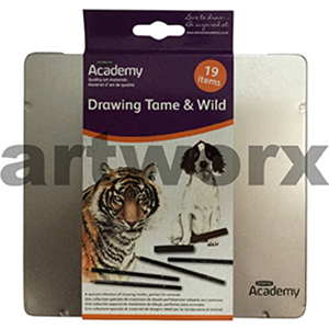 19pc Tame & Wild Academy Sketching Set Derwent