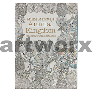 Animal Kingdom 50 Colouring Postcards by Millie Marotta