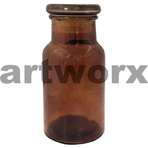 Small Antique Apothecary Jar Amber