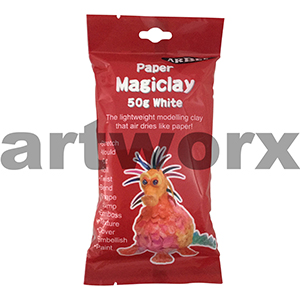 Magiclay 50g White Arbee Modelling Paper Clay