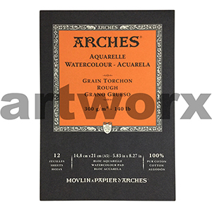 300gsm A5 12 Sheet Rough Arches Pad