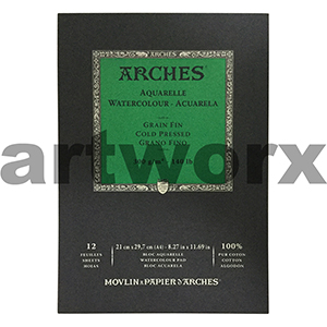 300gsm A3 12 Sheet Cold Press Arches Pad