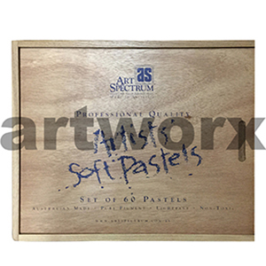 60pc Artists' Soft Pastels in Wooden Box