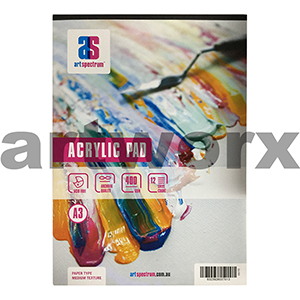 400gsm A3 12 Sheet Acrylic Medium Texture Art Spectrum Pad