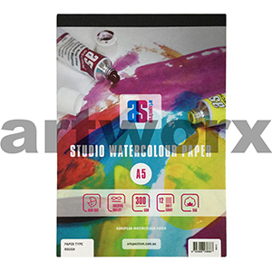 300gsm A5 12 Sheet Draw & Wash Rough Art Spectrum Pad