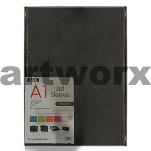 5pc A1 Artcare Refillable Plastic Sleeves for Portfolio