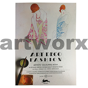 Art Deco Fashion Pepin Artist Coloring Book