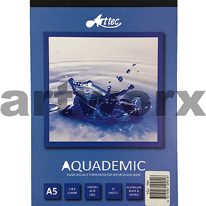 240gsm A5 15 Sheet Aquademic Watercolor Pad