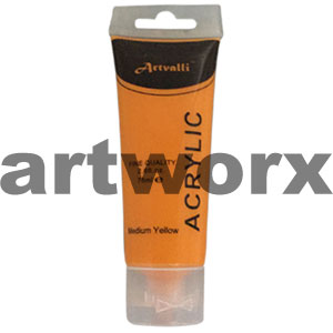 Medium Yellow Acrylic Paint 75ml
