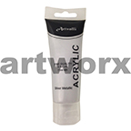 Metallic Silver Acrylic Paint 75ml
