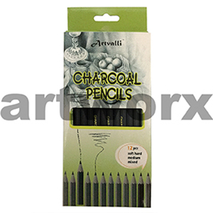 12 Artvalli Charcoal Pencils