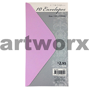 Lilac DL 10pk Artwrap Envelopes