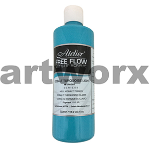 Cobalt Turquoise Light s5 Atelier Free Flow 500ml
