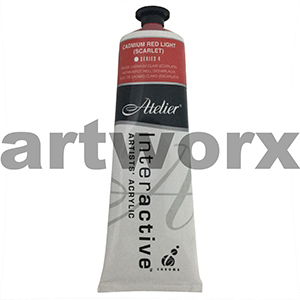 Cadmium Red Light (Scarlet) s4 Atelier Interactive 80ml Tube