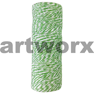 Green and White Bakers Twine