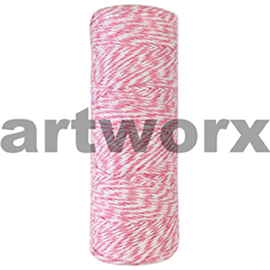 Light Pink and White Bakers Twine