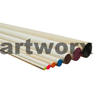 915x9.5mm Orange Dowel Sticks