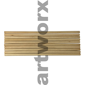 300x10mm Dowel Sticks 10 Pack