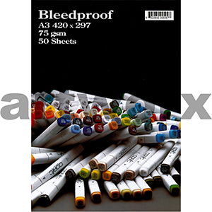 Bleedproof A3 Pad 75gsm 50 sheets