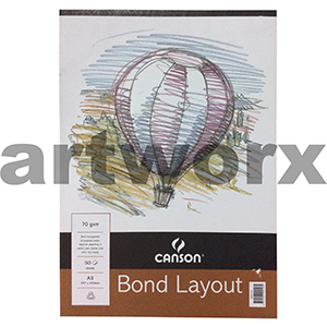 70gsm A3 50 Sheet Canson Bond Layout Pad