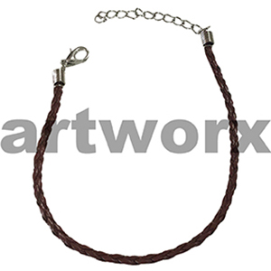 Brown Necklace with Clasp Leather