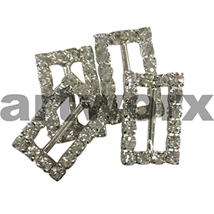 4pk K303B Rectangle Diamante Buckle