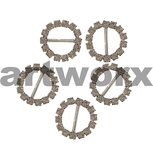 6pk K192B Round Diamante Buckle
