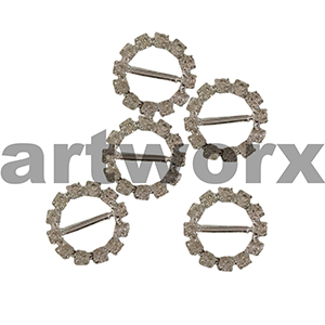 5pk K195B Round Diamante Buckle