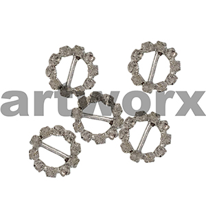 5pk K190B Round Diamante Buckle